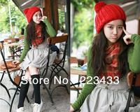 9 Colors Free Shipping Hot Sale 2013 Fashion Knitted Neon Women Beanie Girls Autumn Casual Cap Women's Warm Winter Hats Unisex