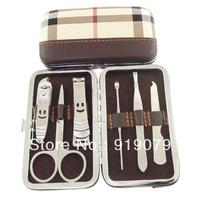 6 in 1 Beauty Lady Nail Care Kit Manicure Set Nail Scissors Clipper Pedicure Manicure Suit Portable Case Free Ship white wsmile