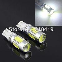 Free shipping 2X Wholesale auto light car lamp T10 7.5w car led bulb led wedge bulb 194 168 192 W5W lamp