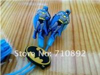 Wholesale!1XNew Headphone Earphone Headset in-ear 3.5mm Cute Cartoon Hero Batman 1.2m Line MP3 MP4 Phone PC.Free Shipping