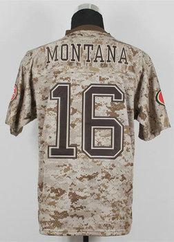 American USMC Elite Football Jersey #16 Joe Montana Camo US.Mccuu Jerseys Size 40-56 Embroidery name and number
