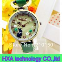 Fashion mini world watch ,polymer clay leather watch , luxury women watch