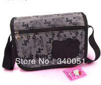 Stylish Cute Hello Kitty Pattern Black Color Handbag Messenger Bag  +Free Shipping