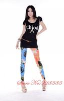 Autumn New Fashion Seamless Floral Leggings for Women 2013 Fitness Flower print Leggins pants free shipping #C9035