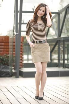 3 colors 2012 summer new Korean version of Women OL spell color dress casual women buy 1 get 1 belt 7091