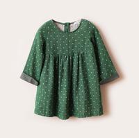 2013 jacadi child baby girls clothing cotton yarn linen long-sleeve dress skirt suit small fresh