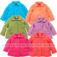 Children's clothing polar fleece fabric peter pan collar outerwear child red wool coat