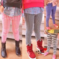 Children's clothing female child autumn fashion child 2013 water wash denim long trousers skinny legging pants