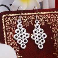 Hot Sell!Wholesale 925 silver earring,925 silver fashion jewelry Earrings,Multi-O Prism Drop Earring SMTE368