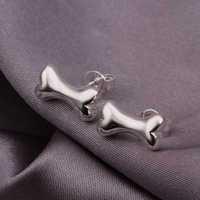 Hot Sell!Wholesale 925 silver earring,925 silver fashion jewelry Earrings,Cute Bone Earring For Men SMTE309