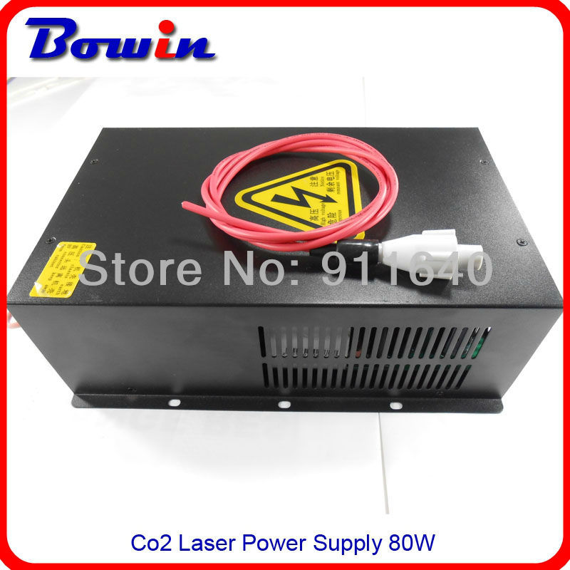 Запчасти для лазерного оборудования Bowin 80W 2 Co2 laser tube 80W power top quality co2 laser machine spare parts high performance flyback 60w co2 laser power supply for laser cutting