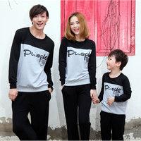Fashion autumn family tendrils 2013 autumn child family set mother and son long-sleeve sports t-shirt set