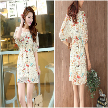 2013 foreign trade of the original single network burst models graffiti graffiti sleeve lady dress casual sportswear 7082