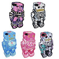 For iphone 4 4s case Unique Robot soft rubber case for iphone 4 4s cell phone cases covers to iphone4