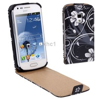 Free Shipping Mobile Phone Flower Style Leather Case for Samsung Galaxy Trend Duos S7562