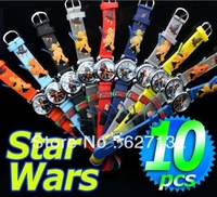 Wholesale 10pcs Star Wars 3D Cartoon Children Kids Girls Boys Students Quartz Wrist Watches
