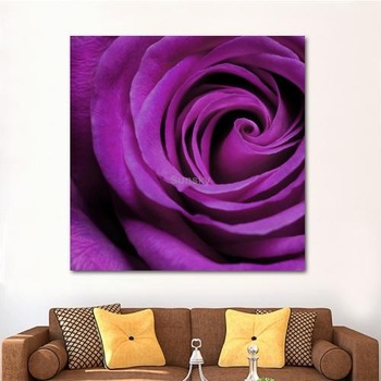 Purple Rose Style Home Decoration Art Pictures / Wall Paintings on UV Prints for Kitchen / Dining Room / Bed Room, Size: 30x30cm