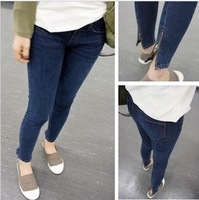2013 women's trousers back zipper skinny jeans pencil pants