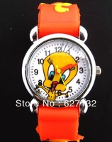 Free Shipping New 1 pcs Tweety Bird Cartoon Wristwatch Children Favor Wristwatch 3D Kid Watch Wristwatch