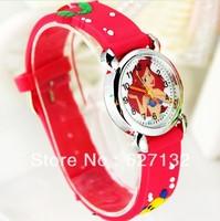 Wholesale Free Shipping Fashion Little Mermaid Wristwatch Cartoon 3D Watch 3D Watch Children Watch Wrist Watch On Sale