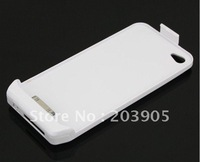50pcs/lot* portable emergency Backup battery Case for iPhone 4 4S withretail pack packing *free shipping