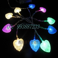 Led battery light lamp festival lights wedding supplies decoration lantern multicolour crystal heart light