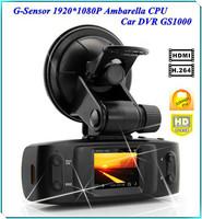 HD 1080P Dash Car DVR Cam Vehicle Camera IR LED Night Vision Blackbox GS1000 , Free Shipping + Drop shipping
