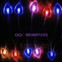 Love lamp festival lights wedding supplies decoration lantern 1.5 meters colorful heart battery light
