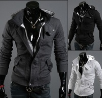 Fashion Design Free Shipping Mens Clothing Assassins 3 Creed Desmond Miles cos Cosplay Costume Hoodie Coat Jacket Sweatshirt