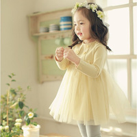 New  2013 autumn child 100% cotton  dress female child long-sleeve floral print dress stand collar full dress free shipping