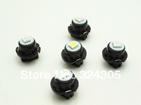 NEW10pcs/ lot Car / air LED Dashboard Bulb T10 wire 5050 1SMD 18MM Max diameter instrument panel lights lamps auto bulbs white