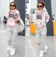 New 2013 women's tracksuits women sport suits Winter Korean Tracksuits Women's sweatshirt pants Vest Three-Piece Suit
