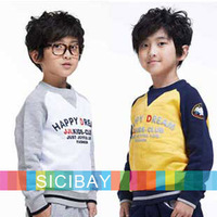 New Baby Boys Fleece Hoodies Fashion Letters Printed Tops Colors Patched Tshirts,Leisure Wear,Free Shipping K3016