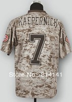 Wholesale-Free Shipping Cheapest 2013 New Camo US.Mccuu Football Jersey Colin Kaepernick #7 Mix Order
