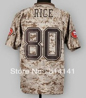 Wholesale-Free Shipping Cheapest 2013 New Camo US.Mccuu Football Jersey #80 Jerry Rice Mix Order