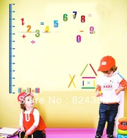 Arabic numerals PVC wall stickers Giraffe Growth Chart Height Measure for kids rooms/decoration home decoration AY745