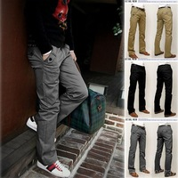 NEW  SALE MEN'S PANTS FASHION CASUAL KOREAN VERSION OF MEN'S CASUAL PANTS, UNWORTHY BELT MF-44229