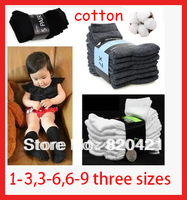 12PCS=6 pairs solid color classic Boomtowns kid's mounted  child sock male female child 100% cotton baby  socks for halloween
