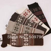 12pairs/lot 2013 new wool Jacquard overknee socks blending vintage ossan knee socks