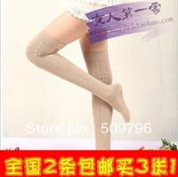 10pairs 2013 autumn/ winter woman overknee female cotton stockings