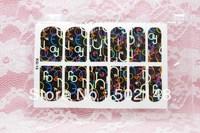 2013 hot selling fluo nail polish sticker/Fluorescent Nail Sticker
