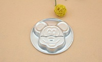Free shiping large size mickey mouse  aluminum alloy cake moulds  cake decorating tools non stick cake pan  D296