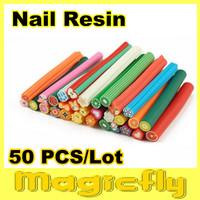 [GTZ-002]50XFashion Nail Art Fruit and Flower Decoration Slice Rod Stick Cane DIY Designs+Free Shipping