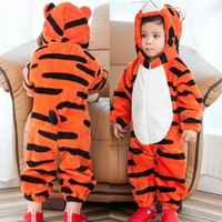 free shipping retail tiger romper baby tiger bodysuits Ronny Turiaf design jumpsuits animal cartoon tiger costume
