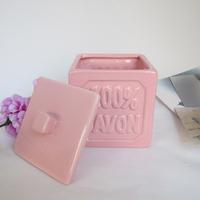 Modern fashion square brief fashion ceramic desktop storage box small box stationery