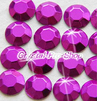 1440 pieces Purple 2mm 6ss ss6 Faceted Hotfix Rhinestuds Iron On Round Beads new Aluminum Metal Design Art (u2m-Purple-10 gr)