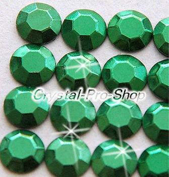 1440 pieces Green 2mm 6ss ss6 Faceted Hotfix Rhinestuds Iron On Round Beads new Aluminum Metal Design Art DIY (u2m-Green-10 gr)