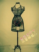 Wrought iron model aircraft full-body female models rack wedding dress props adjustable