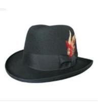1 pcs free shipping 100% wool Wool fedoras hip-hop cap male women's  Unisex Fedora hat