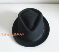 1 pcs free shipping Wool fedoras small fedoras jazz hat gentleman hat male women's woolen hat  fedora hat